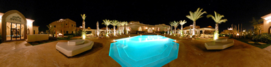 Ohlam Resort Spa Hotels Marrakech Morocco Pool by Night